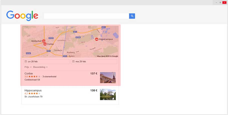 Lokaal scoren in Google